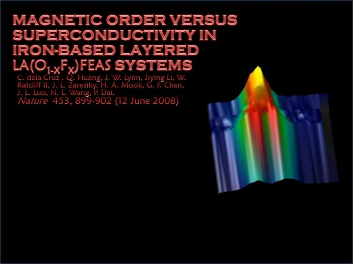 Magnetic Order versus Superconductivity in