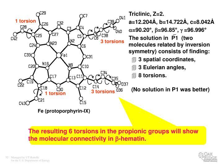 Triclinic, Z=2.