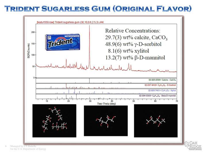 Trident Sugarless Gum (Original Flavor)