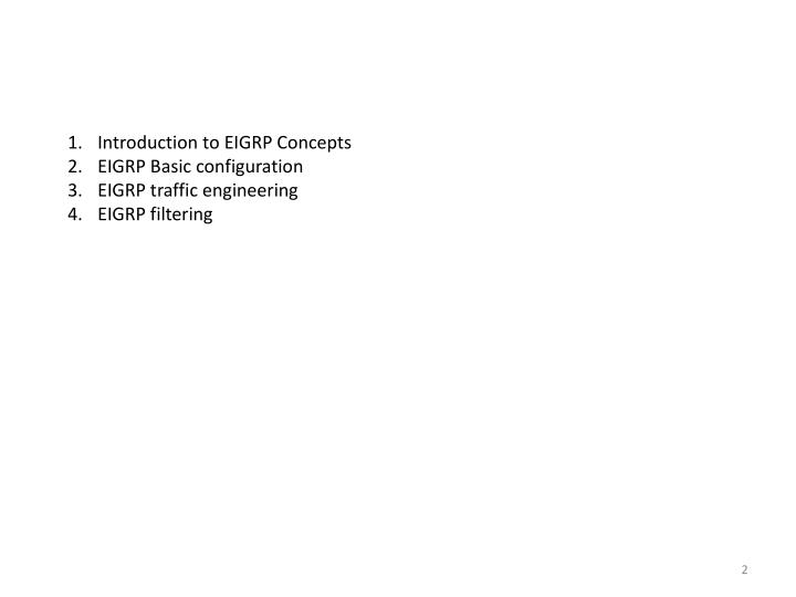 Introduction to EIGRP Concepts