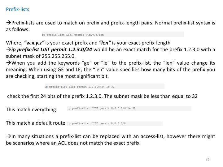 Prefix-lists
