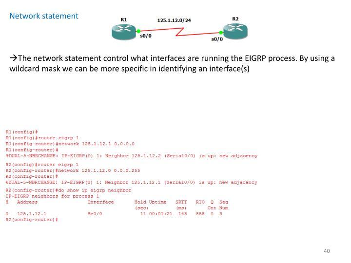 Network statement