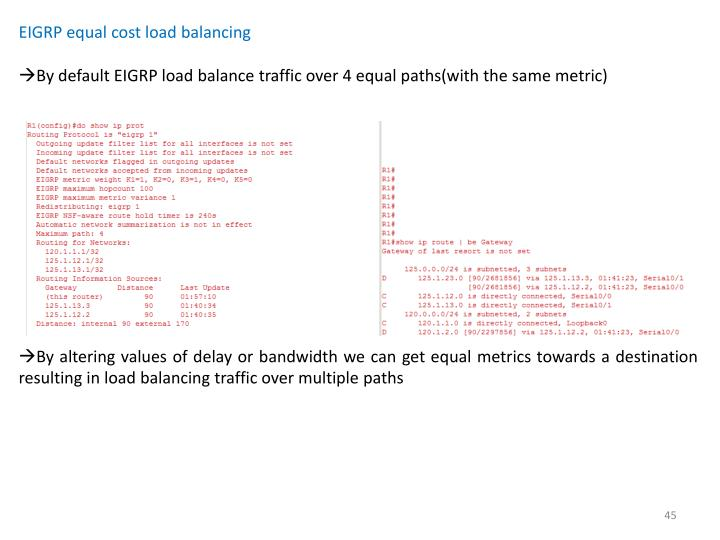 EIGRP equal cost load balancing