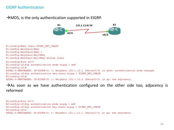 EIGRP Authentication