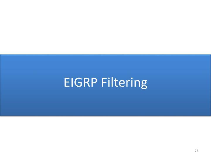 EIGRP Filtering