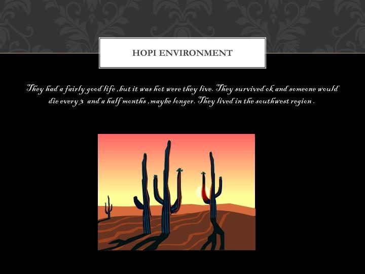 Hopi environment