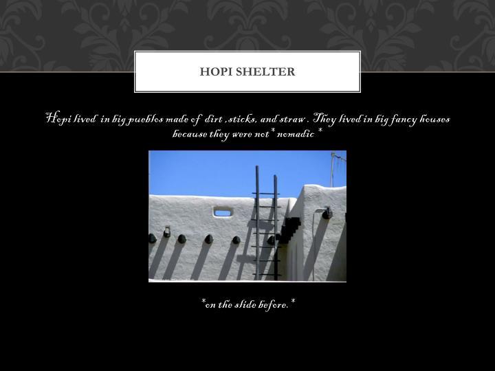 Hopi shelter