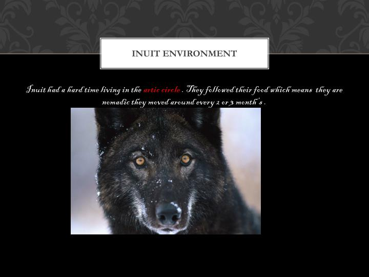 Inuit environment