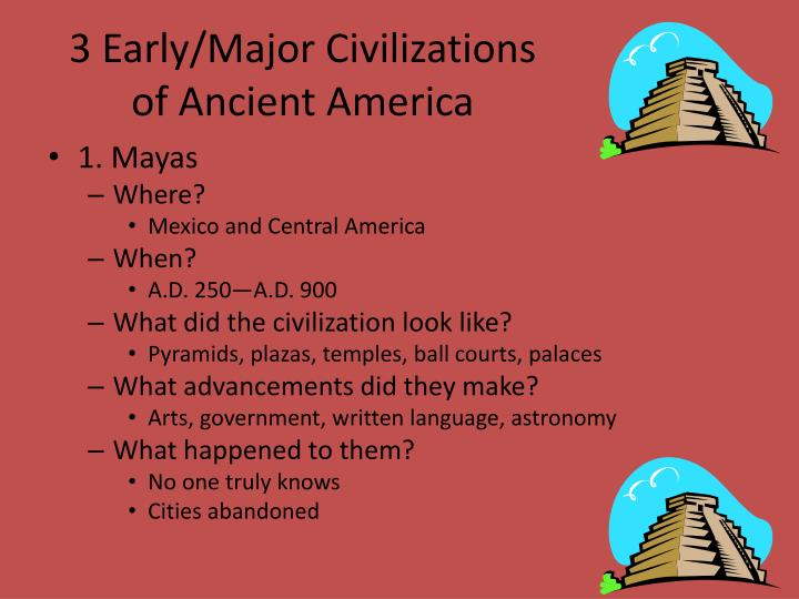 3 Early/Major Civilizations of Ancient America