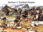 section 1 earliest people
