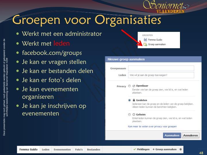 Groepen voor Organisaties
