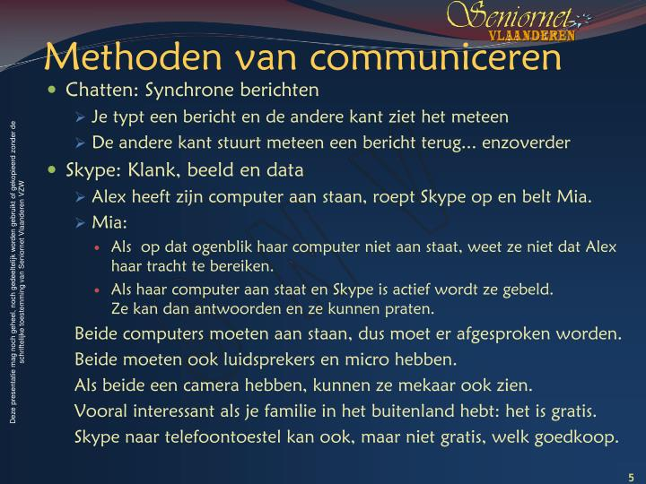 Methoden van communiceren
