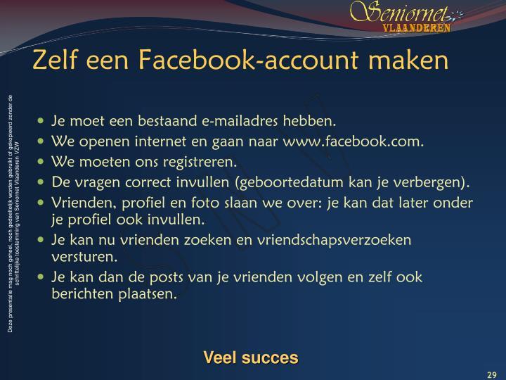 Zelf een Facebook-account maken