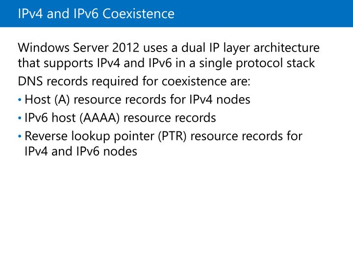 IPv4 and IPv6 Coexistence