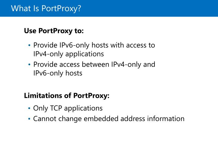 What Is PortProxy?