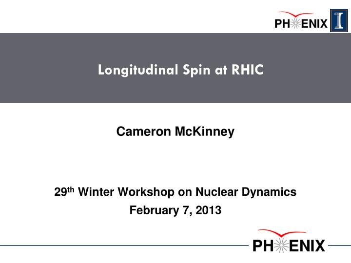Longitudinal spin at rhic