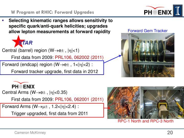 W Program at RHIC: Forward Upgrades