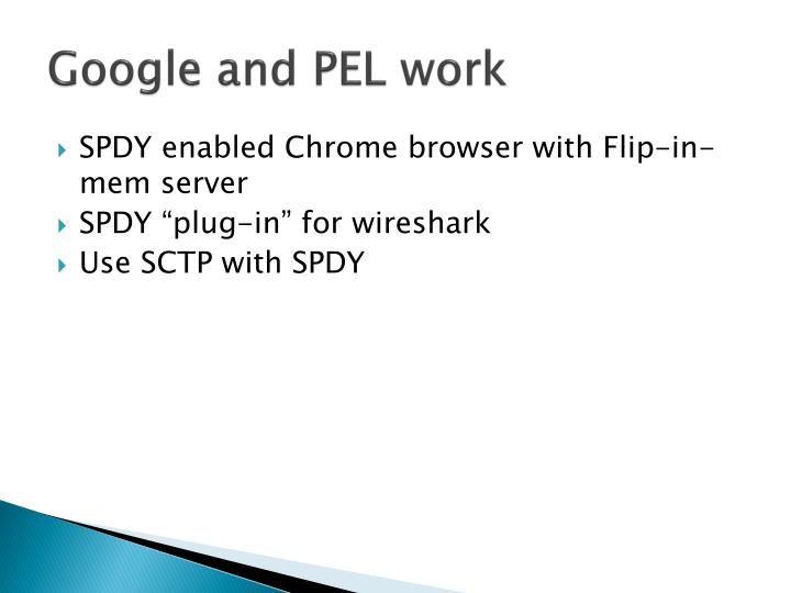 Google and PEL work
