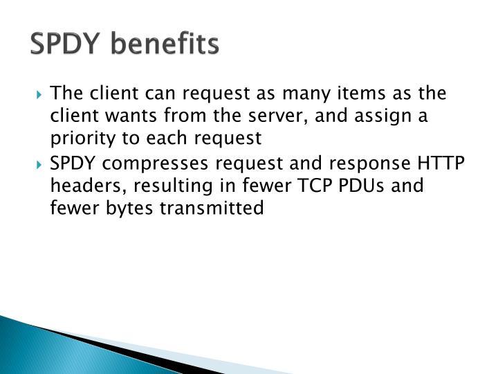 SPDY benefits