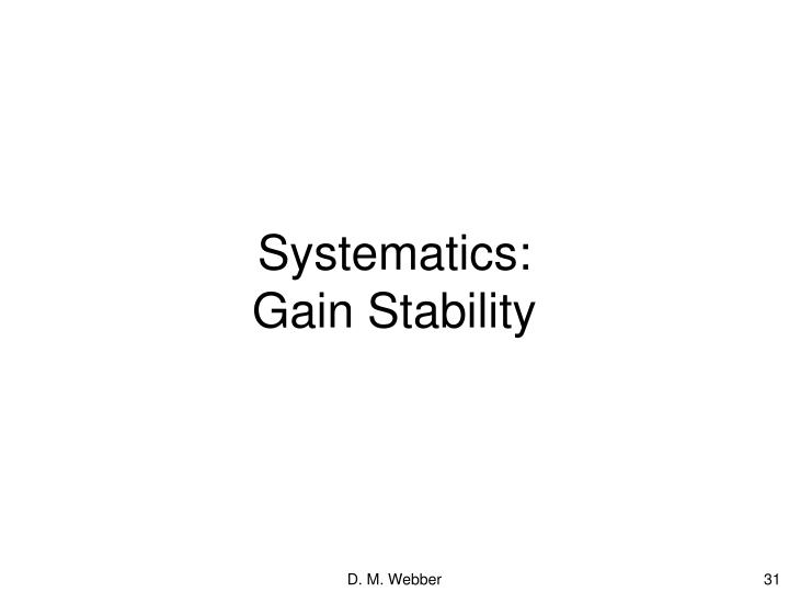 Systematics: