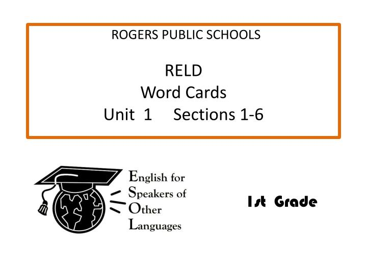 Reld word cards unit 1 sections 1 6