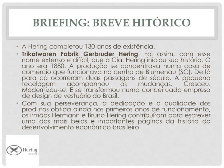 Briefing: Breve