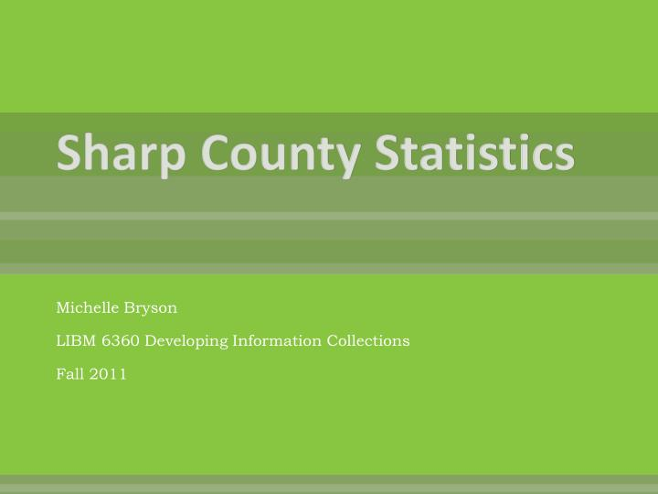 Sharp county statistics
