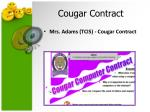 cougar contract