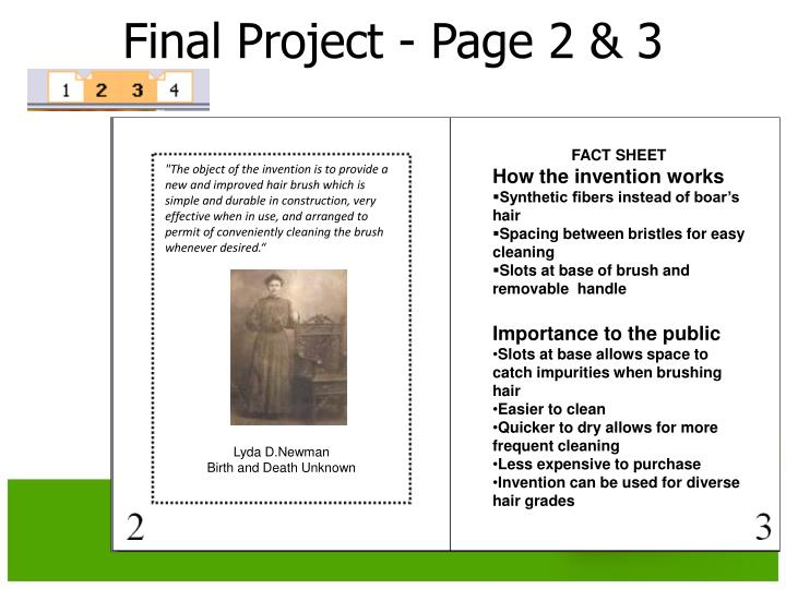 Final Project - Page 2 & 3