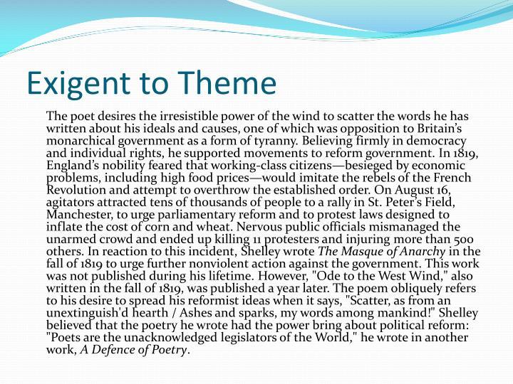 Exigent to Theme