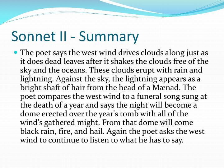Sonnet II - Summary