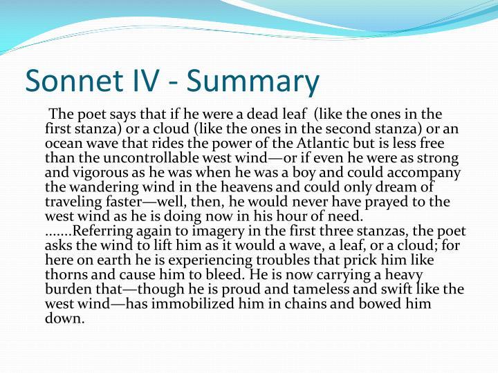 Sonnet IV - Summary
