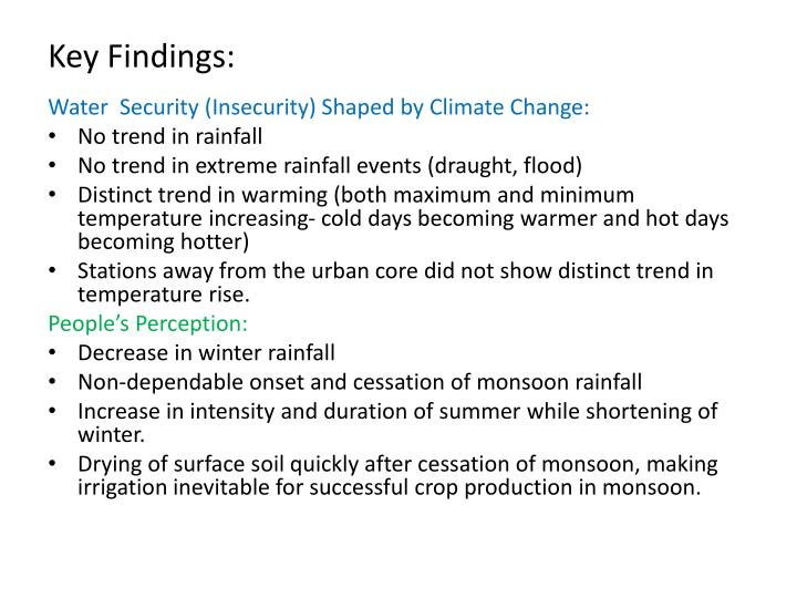 Key Findings:
