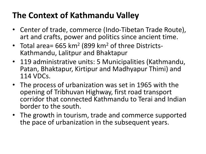 The context of kathmandu valley1