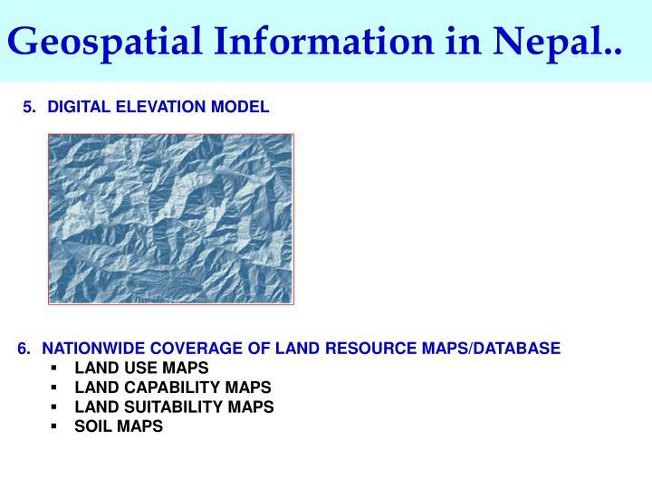 Geospatial Information in Nepal..