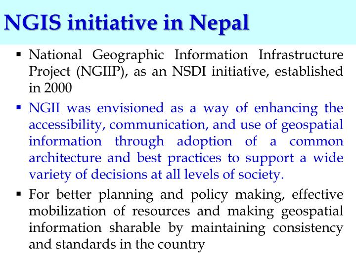 NGIS initiative in Nepal