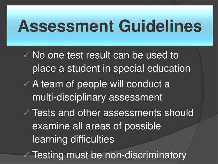 Assessment Guidelines