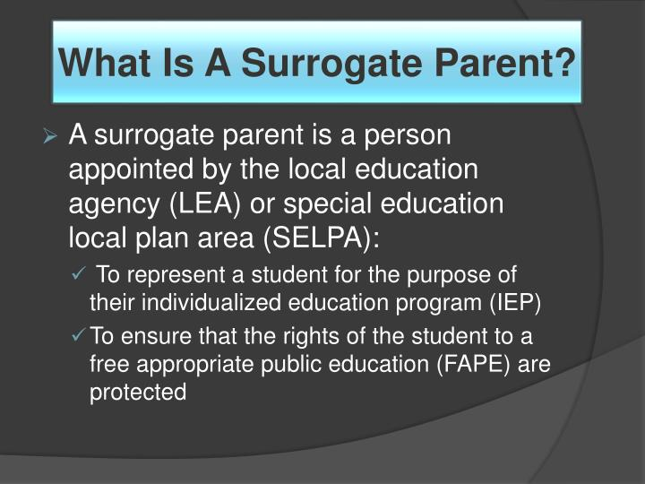 What is a surrogate parent