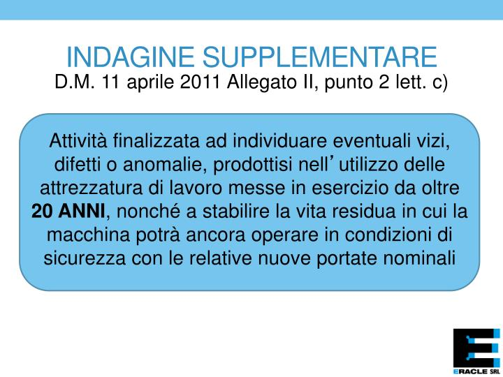 INDAGINE SUPPLEMENTARE