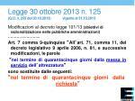 legge 30 ottobre 2013 n 125 g u n 255 del 30 10 2013 vigente al 31 10 2013