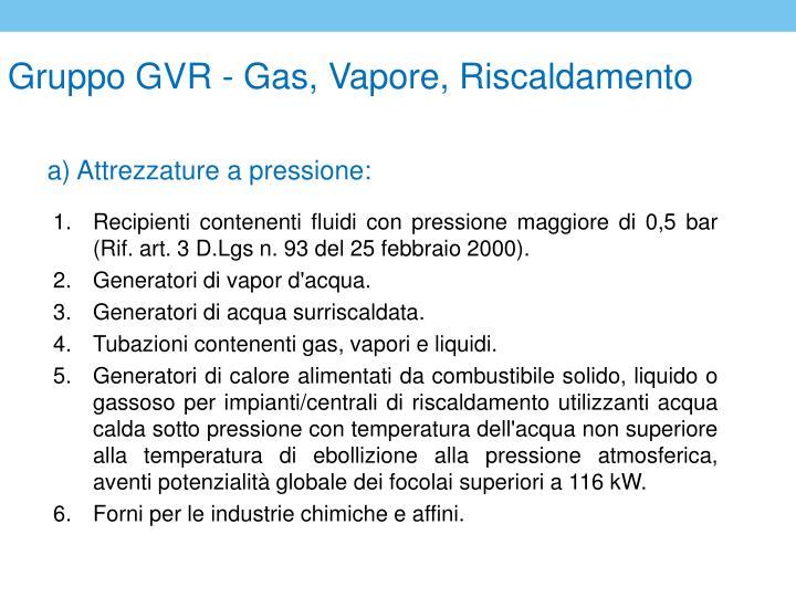 Gruppo GVR - Gas, Vapore, Riscaldamento