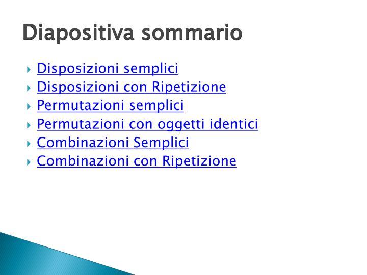 Diapositiva sommario