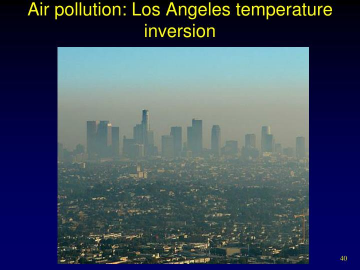 Air pollution: Los Angeles temperature inversion