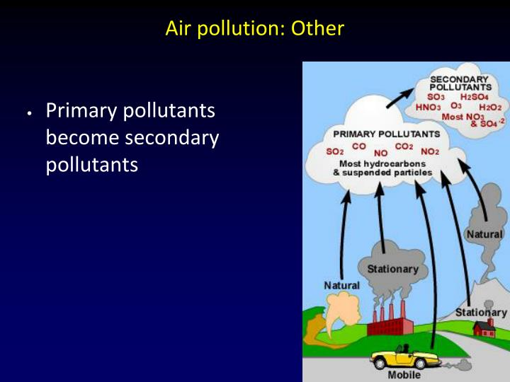 Air pollution: Other