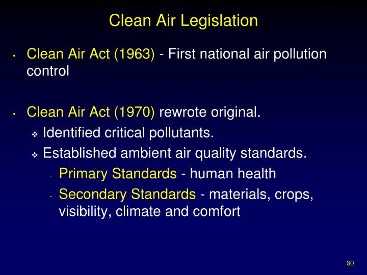 Clean Air Legislation