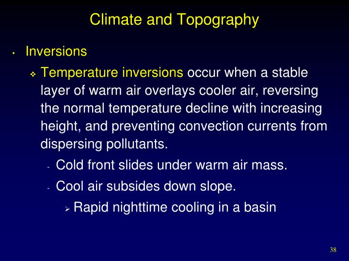 Climate and Topography