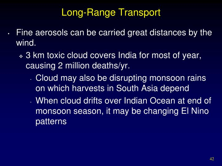 Long-Range Transport