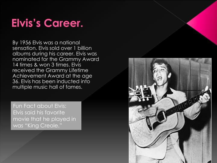 Elvis's Career.