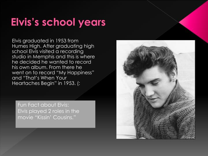 Elvis's school years