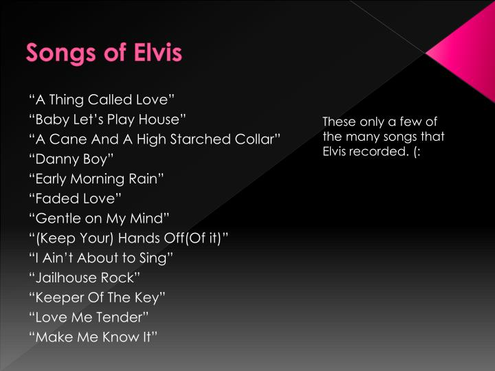 Songs of Elvis